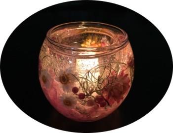 ハーバリウム香りのキャンドルホルダー(11・12月)